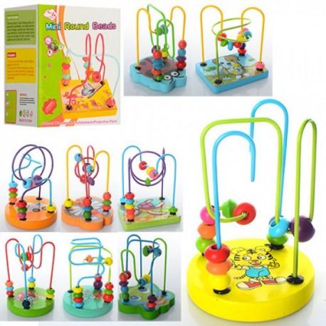 Деревянная игрушка Лабиринт E12590-91-92 на проволоке