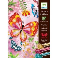 """Художественный комплект рисование блестками """"Блестящие бабочки"""" DJ 09503 уценка"""