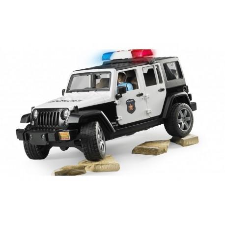 Полицейский джип Jeep Wrangler (+сирена ) с полицейским Bruder (02526)