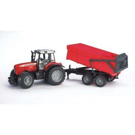 Трактор Massey Ferguson 7480 с прицепом, Bruder (02045) уценка
