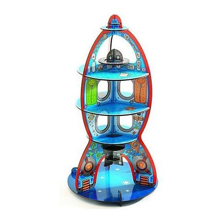 Конструктор с плотного картона Космический корабль 3D (15 дет.)