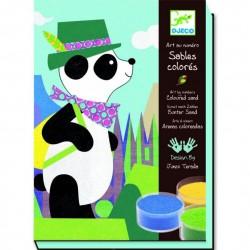 Художественный комплект для рисования цветным песком Панда и его друзья DJ 08630 уценка