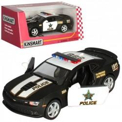 Машинка KT5383WP металл,инер-я,полиция,12см