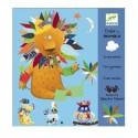 DJECO Набор наклеек для аппликации Создай животное 08932