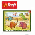 Trefl Пазлы рамочные, Динозаври 31075