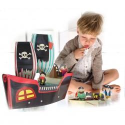 """Kroom Картонный 3D-игровой набор """"Пиратский корабль Купер"""""""