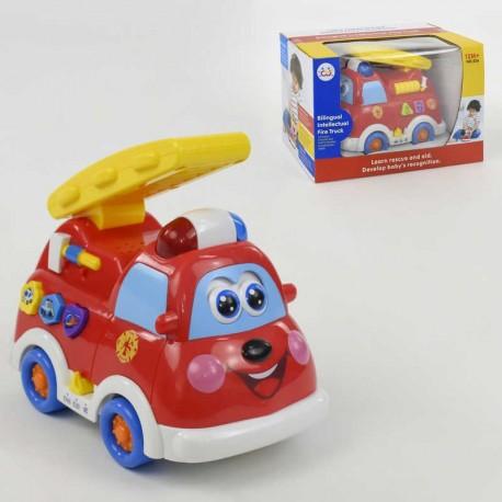 Музыкальная развивающая игрушка Пожарная машина 9163