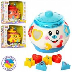 Развивающая игрушка Joy Toy музыкальный горшочек - сортер 0915