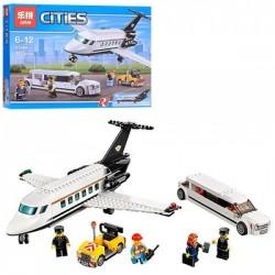 Конструктор 02044 самолет, машина, фигурки