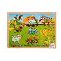 Деревянные вкладыши Домашние животные 611-1
