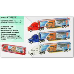 Машинка Kinsmart (KT1302W) KENWORTH T700 CONTAINER
