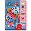 Художественный комплект рисование цветным песком и блестками Радужные рыбки DJ08661 уценка
