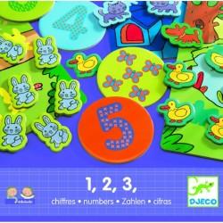 DJECO Развивающая игра с цифрами 1,2,3 (08315) уценка