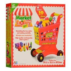 Тележка Супермаркет 16671В,продукты 19дет.
