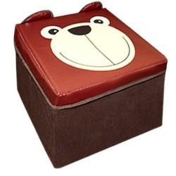 Детский пуф Зоопарк 30*30*30см, медведь