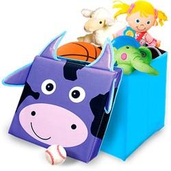 Детский пуф Зоопарк 30*30*30см,корова