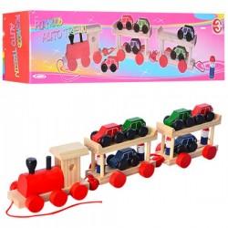 Деревянная игрушка Паровозик M01557