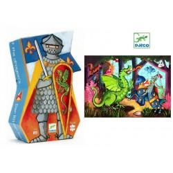 DJECO Пазл Рыцарь и дракон, 36 деталей 07223