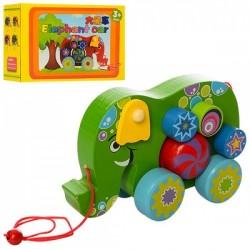 Деревянная игрушка Каталка MD 1135