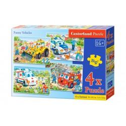 Castorland Пазлы Веселый транспорт 4х1 (8,12,15,20) B-04201