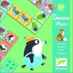 """DJECO Игра детское домино """" Веселые животные"""" 08115"""