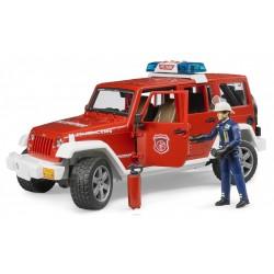 Bruder Пожарная машина Jeep Wrangler с пожарником, мигалки М1:16 (02528)