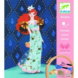 """DJECO Художественный комплект вышивка""""Коктейльная мода"""" 09844"""