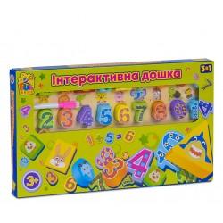 """Интерактивная досточка 3в1 7409 (12) """"FUN GAME"""", обучающая, с маркером для рисования"""