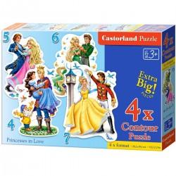 Castorland Пазлы Принцессы 4х1(4,5,6,7) B-04461