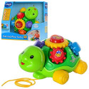 Каталка 143103 черепаха, обуч,муз(англ), звук(англ).