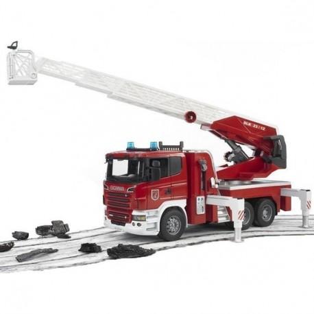 Большая пожарная машина SCANIA (водяная помпа+свет+звук) М1:16 (03590)