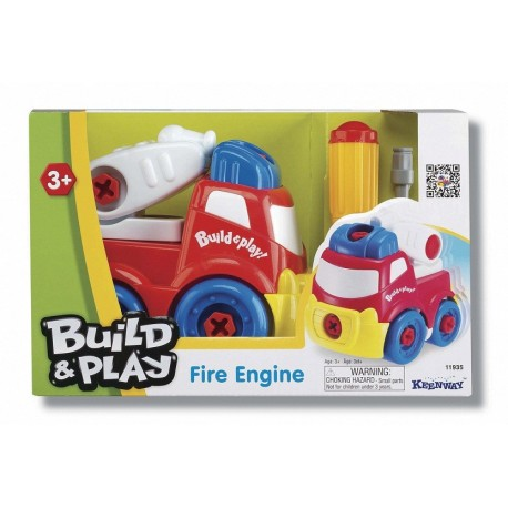 Пожарная машина Строй и играй, конструктор 11935 Keenway