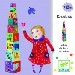 Пирамидка Djeco Забавные кубики Мои друзья 08505