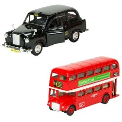 Welly Набор Автобус 1:60 LONDON BUS + машинка 1:34-39 TAXI