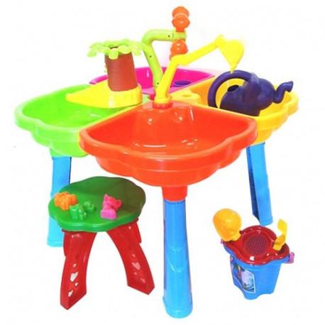 Песочный столик с набором, стульчиком, лейкой 01-121-1 Киндервей