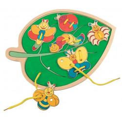 Шнуровка Листик с насекомыми 88095