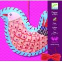 Художественный комплект Шнуровка Птички DJECO DJ08945 уценка