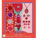 Художественный ювелирный набор Сердце и жемчуг Djeco DJ09803