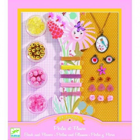 Художественный ювелирный набор Djeco Цветы и жемчуг DJ09801 уценка