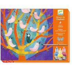 Художественный комплект для рисования Djeco Птички DJ08960 уценка
