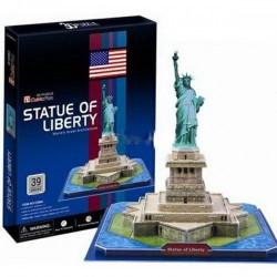 Трехмерная головоломка-конструктор Статуя Свободы c02080