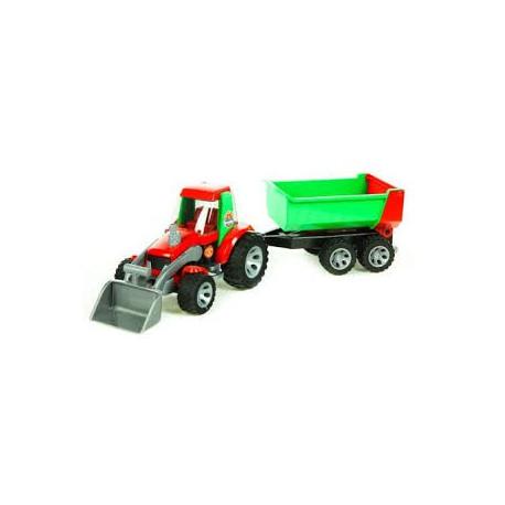 Трактор с погрузчиком и прицепом (серия Roadmax) Bruder 20116 УЦЕНКА