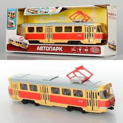 Трамвай 9708-C муз., свет, открываюся двери, бат.