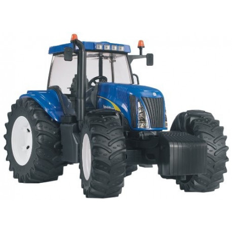 Трактор New Holland T8040,синий,М1:16 (03020) УЦЕНКА!!!